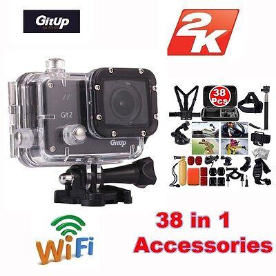 Gitup Git2 Pro Wireless WiFi 2K Helemet Sports Camera DV+38 Pcs Accessories Kit