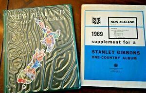 CatalinaStamps-New-Zealand-Stamp-Album-Gibbons-1969-341-Stamps-Lot-D112