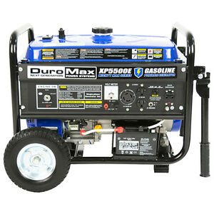 DuroMax XP5500E 5 500 Watt 7 5 HP Portable Electric Start Gas Generator