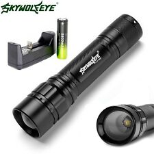 6000LM 3 Modes CREE XML T6 LED Flashlight Lamp Torch 18650 Battery+Charger
