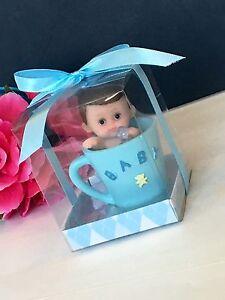 12pc Baby Shower Boy Party Favors Teacup Figurines Recuerdos De Nino