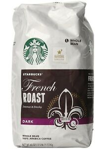STARBUCKS-French-Roast-DARK-Whole-Bean-100-Arabica-Coffee-2-5-Lb-40-Oz-Fresh