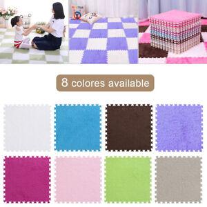 Strisciare-tappetino-bambino-Kids-Play-Floor-Puzzle-EVA-Schiuma-Shaggy-Tappeto-in-Velluto-30x30cm