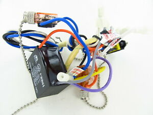 35 - Used Emerson Ceiling Fan Wiring Harness with Switches/Capacitor/Parts  | eBayeBay