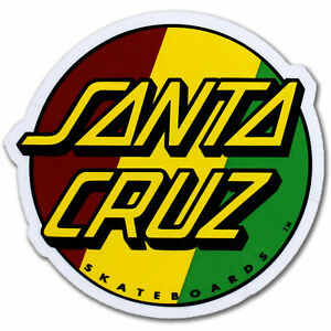 santa cruz skateboard rasta dot logo 3 sticker 780848433948 ebay details about santa cruz skateboard rasta dot logo 3 sticker
