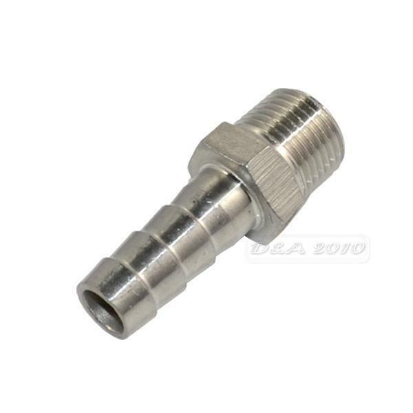 """1/2"""" Male thread Pipe fitting x15mm barb Hose Tail Connector Stainless Steel 304"""