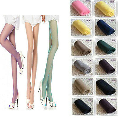 Fashion Women Sexy Candy Colors Sheer Thin Pantyhose Stockings Tights