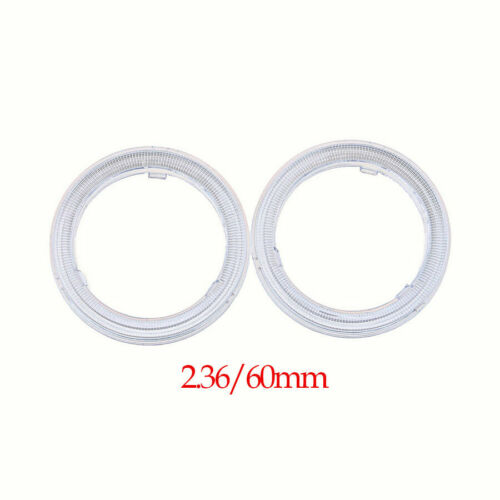 2x 60//70//80//90//100//110mm Clear Plastic Len Cover For LED COB Angel Eye Halo Ring