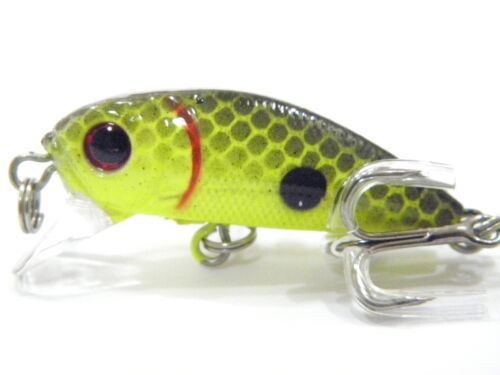 wLure 1//8 oz Minnow Crankbait Tight Wobble Sinking Fishing Lure Hard Lures C617