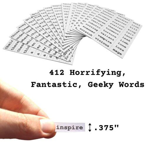 Poetry Tiles Fantasy SciFi Themed Fridge Word Magnets for Poems 660 Horror