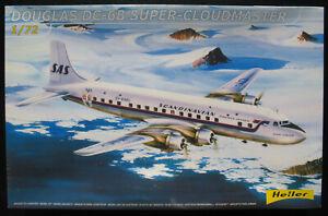 Heller-80315-DOUGLAS-DC-6B-Super-Cloudmaster-SAS-1-72-Flugzeug-Bausatz-Kit