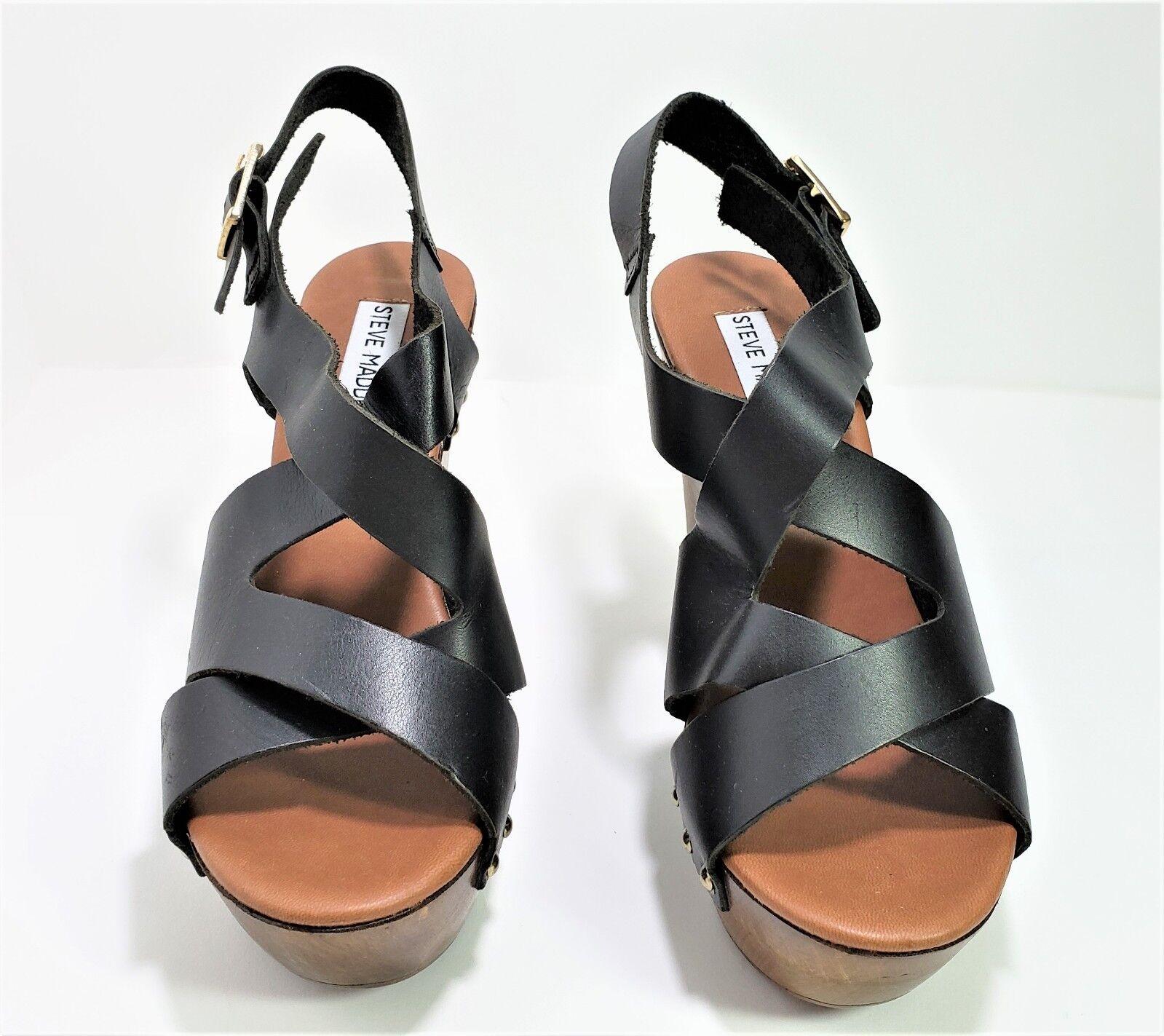 Steve Madden Strappy Sandales 4 6 ½ inch Heels Größe 6 4 21169b