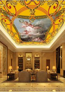 3D goldener Engel 75 Fototapeten Wandbild Fototapete BildTapete Familie DE Kyra