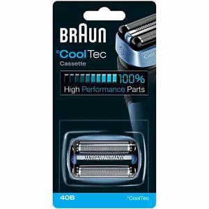 Braun-Cooltech-Estate-40B-afeitadora-electrica-de-lamina-de-reemplazo-amp-Cortador-Cabeza-Cassette