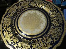 Bohemian Royal Ivory cobalt and gold, Czechoslovakia made for Macy's gold [12*]