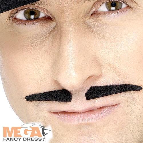 BLACK spiv Tash da Uomo Costume 1920s 20s Gangster Baffi Accessorio Costume