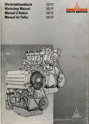 DEUTZ 1011F Engine Motor Tractor Truck Workshop Repair Service Manual 3 in 1 CD