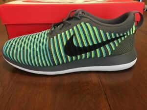 1ae5b5473ef92 Nike Men s Roshe Two Flyknit Breathable Running Shoe Size 9 M US
