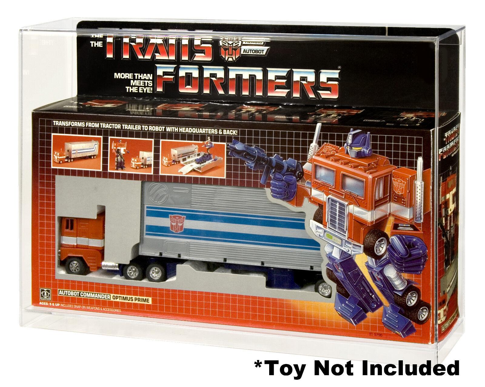 Transformers Optimus Prime caso de exhibición de acrílico