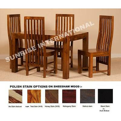 Wooden Dakota Range - Solid Wood Dining Table with 4 Chair set (5 pc Set) !!