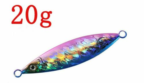 Slow Jigging Lure Light Jig Metal Lead 20g 40g 60g 80g Artificial Fishing Baits