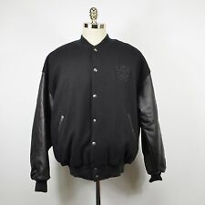 ROOTS Canada Men's Leather & Wool USA OLYMPIC Varsity JACKET / Black XL