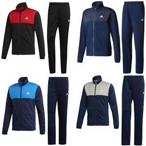 Details zu adidas Trainingsanzug Männer Sportanzug Jogginganzug schwarz blau rot Herren