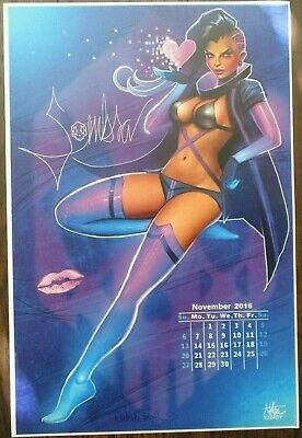 NATHAN SZERDY SIGNED 12X18 SIGNED ART PRINT OVERWATCH MERCY PIN UP CALENDAR NEW