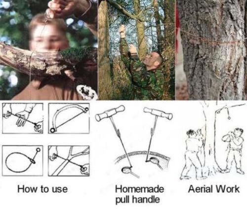 Survival Draht Sah Cutter Outdoor Notfall Camping Überleben Edelstahl Werkzeug