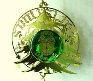 Teamsters-Local-745-Christmas-Tree-Ornament-Vintage-Green-and-Gold