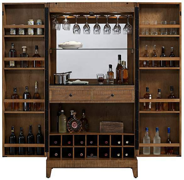 Braxton Wine Cabinet Home Bar Reclaimed Wood By American
