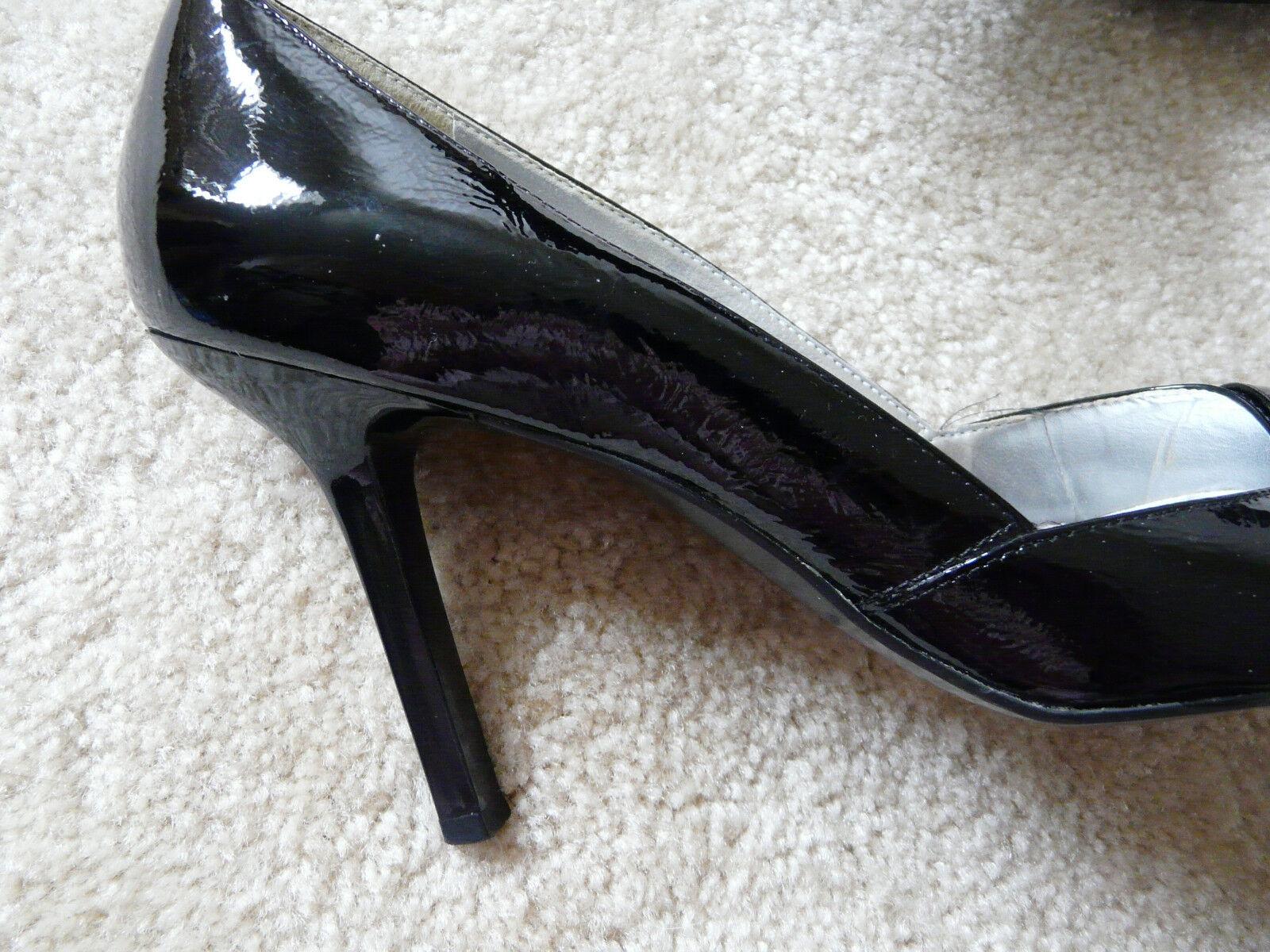 BCBGIRLS Schuhe SEXY STILETTOS BLACK PATENT LEATHER SIZE 9B WORN ONCE