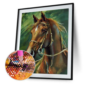 Horse-5D-DIY-Round-Full-Drill-Diamond-Painting-Embroidery-Kits-Cross-Stitch-JT1