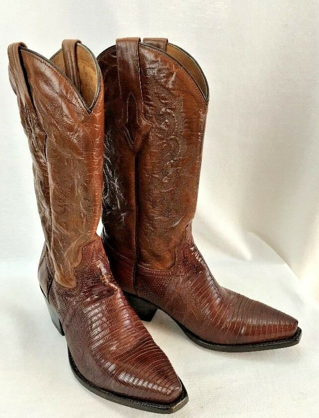 WOMENS RESISTOL RANCH COWGIRL BOOTS LEATHER NWOT BROWN