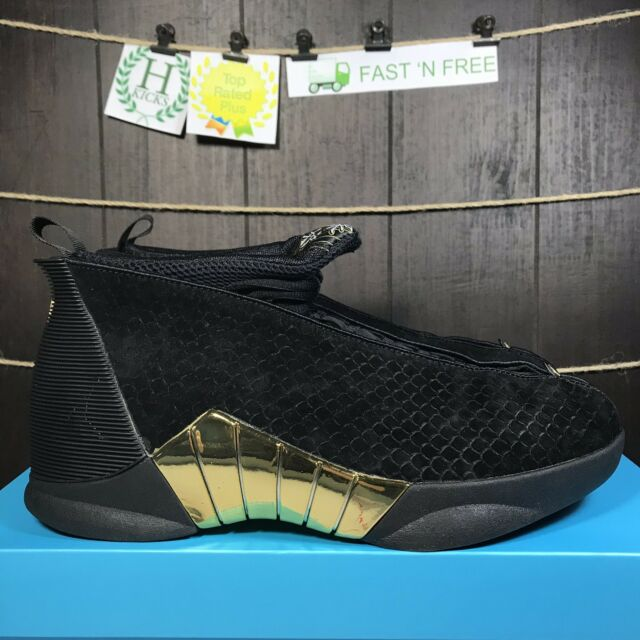 439238508e9 Nike Air Jordan 15 Retro DB Doernbecher Black Metallic Gold BV7107 017 Size  10