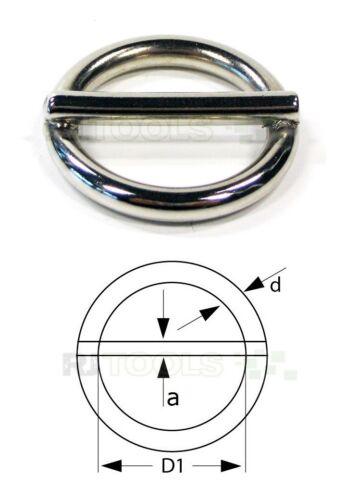 Rundringe mit Steg 16 20 vernickelt Stegring Stegringe Rundring 25 mm Stahl