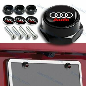 4PCS JEEP Racing Car License Plate Frame Black Screw Bolt Cap Cover Screw Bolt
