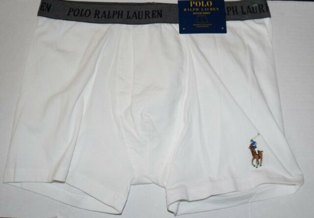 5b54cbe6515b Polo Ralph Lauren Large BOXER BRIEF (P998) White Cotton Stretch Jersey Pouch