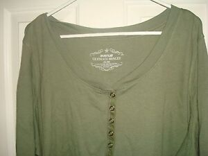 Avenue-Green-Cotton-Knit-Top-Blouse-3-4-Sleeve-Plus-Size-26-28-4x-NWT