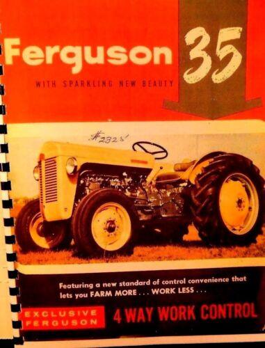Ferguson  Canadian  Tractor  Sales  manual FERGUSON 35 W//Quad controll Full clr.