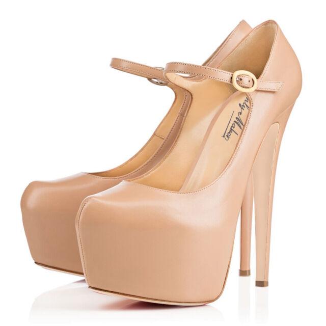 onlymaker Womens Ankle Strap Platform High Heel Mary Jane Stiletto Fashion Pumps