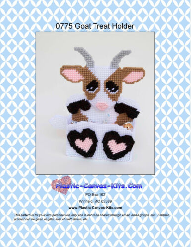 Plastic Canvas Pattern or Kit Goat Treat Holder