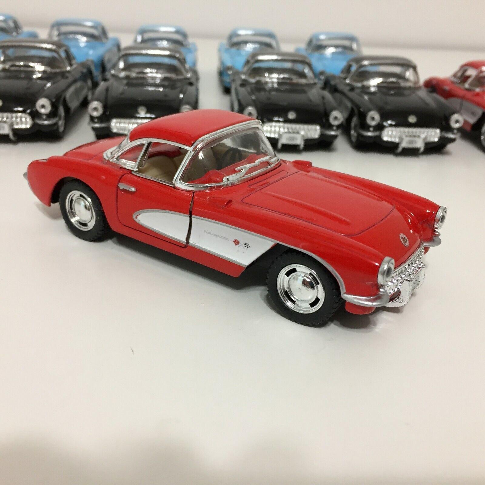 Schylling Die Cast 1957 Chevrolet Corvette 12 Piece Assorted Colors Doors Open