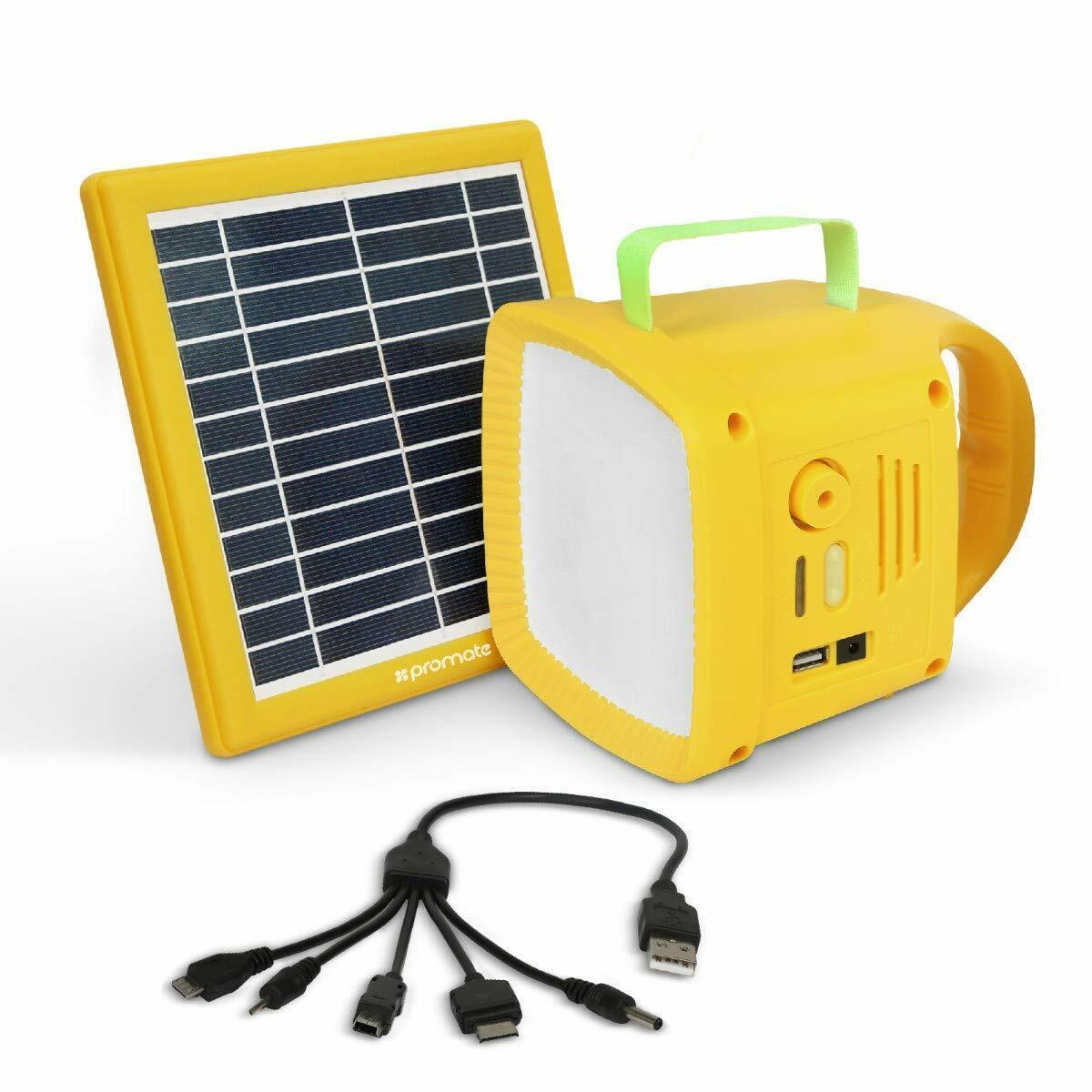 Promate solartorch  1 Luci LED Solare USB Radio tende da campeggio all'aperto luce