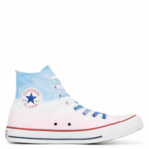 Converse-All-Star-Chuck-Taylor-high-top-scarpe-donna-alte-tela-cobalt-pink-dip