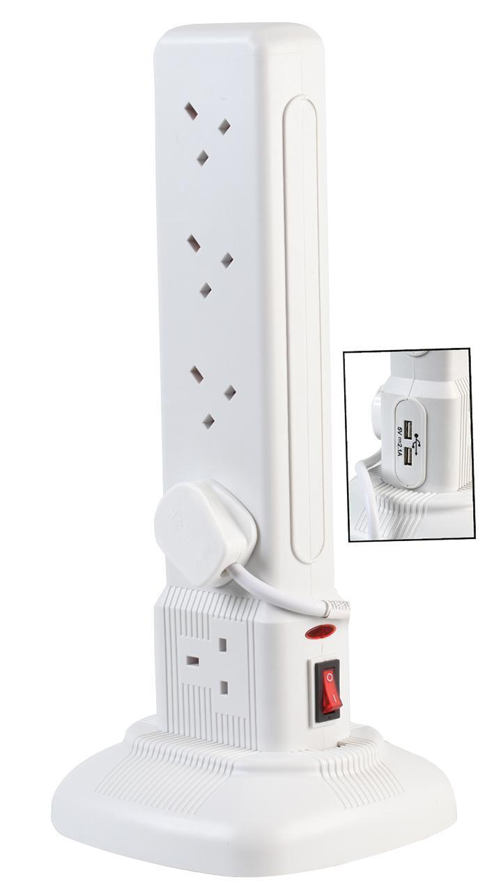 Extension Tower 10G Switch  USB White - 2710U Wht