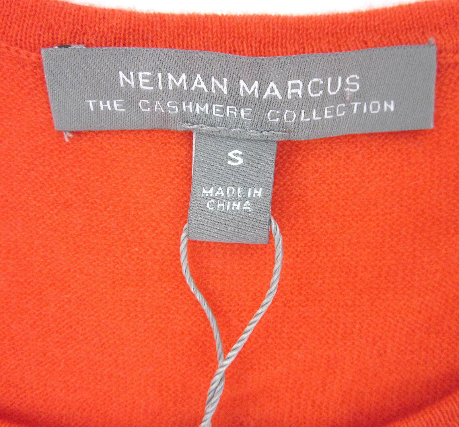 New New New  Neiman Marcus The Cashmere Collection Sz Small orange Sleeveless Top  140 e939e1