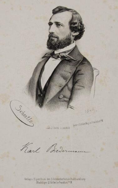 100% QualitäT 1849 Biedermann Karl Lithographie-porträt Schertle Seib Husten Heilen Und Auswurf Erleichtern Und Heiserkeit Lindern