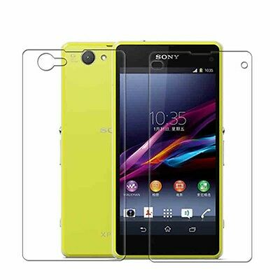 3x FRONT+BACK Clear Screen Protector Guard Film fits for Sony Xperia Z1 Compact