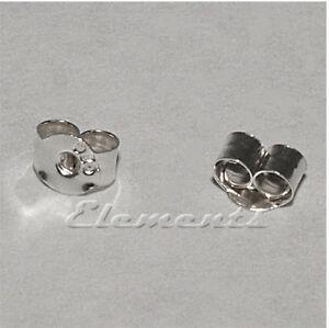 Surgical Steel Scroll Backs 2 Pairs Earrings Medium Weight Butterfly Scrolls
